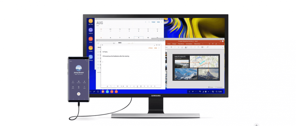 Samsung DeX: Desktop experience on the go