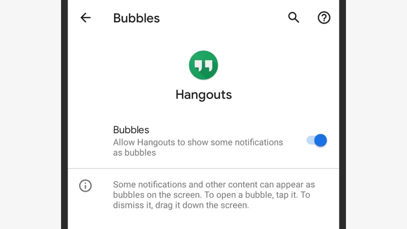 chat bubbles android 11