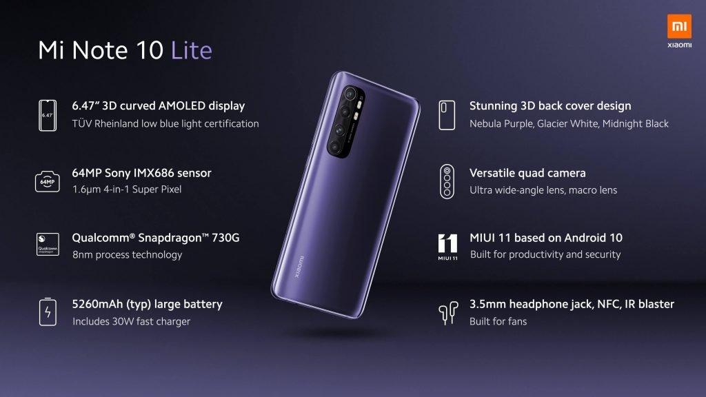 Xiaomi Mi Note 10 Lite Price in Nepal; Lite version of Mi Note 10 Pro