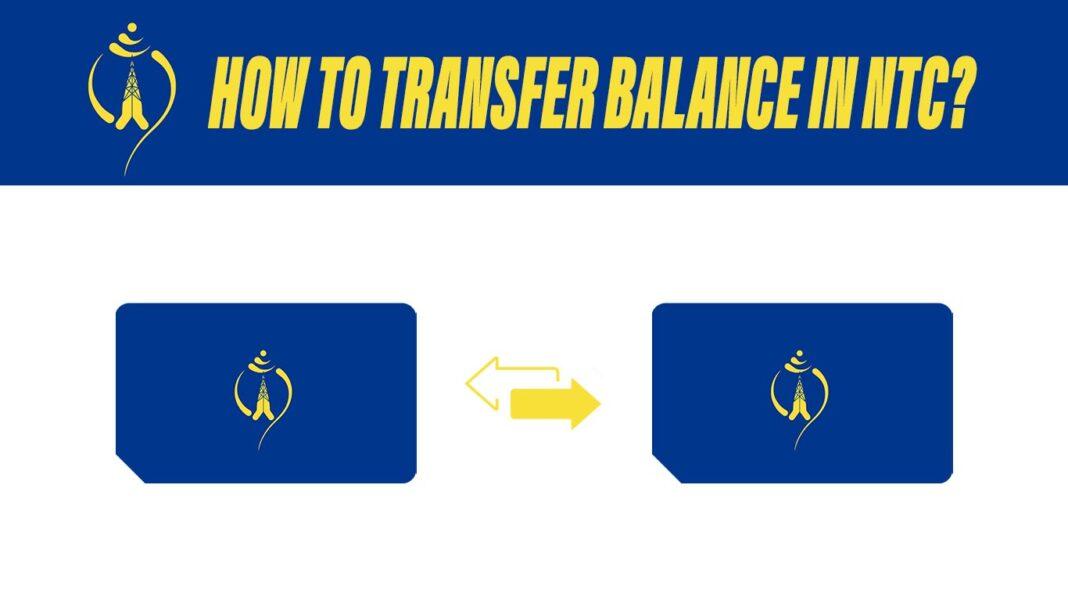transfer balance in ntc