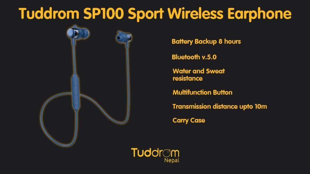 Tuddrom sp100 specifications